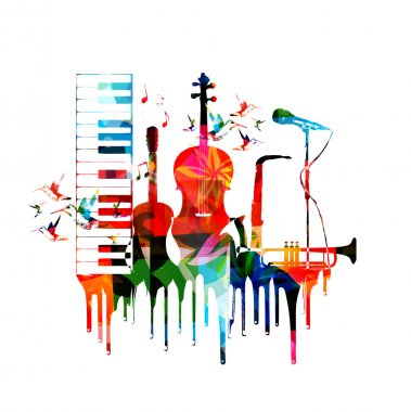 musical instruments background