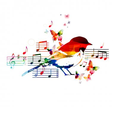 Colorful hummingbird design