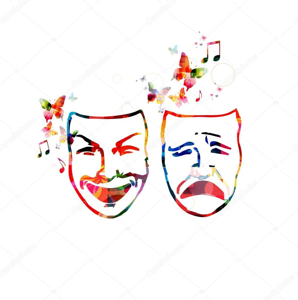 fotos mascaras teatro m225scaras de teatro colorido