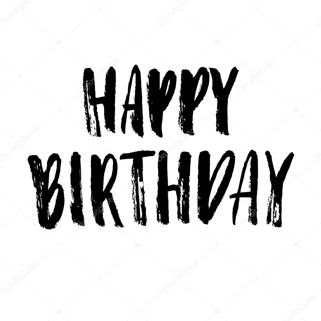 Fondo cumpleaños blanco y negro tarjeta de felicitación de cumpleaños feliz u2014 Vector de stock