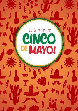 Happy cinco de mayo poster vector illustration clip art vector