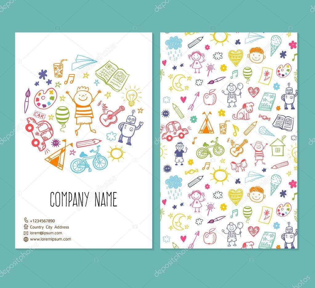 Vorlage mit Doodle Kinderzeichnung 30