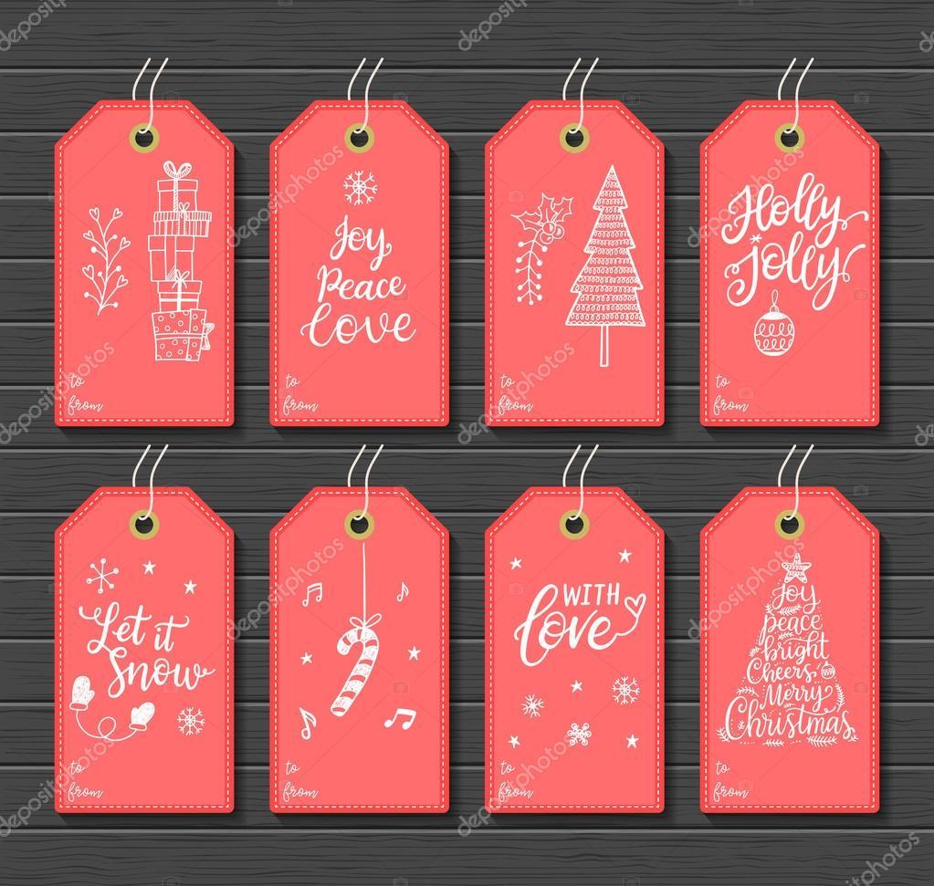 Etiquetas de regalo imprimible de Navidad — Vector de stock ...