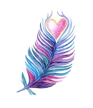 Ethnic tribal feather