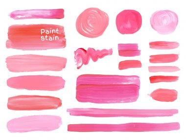 oil paint texture stains set.