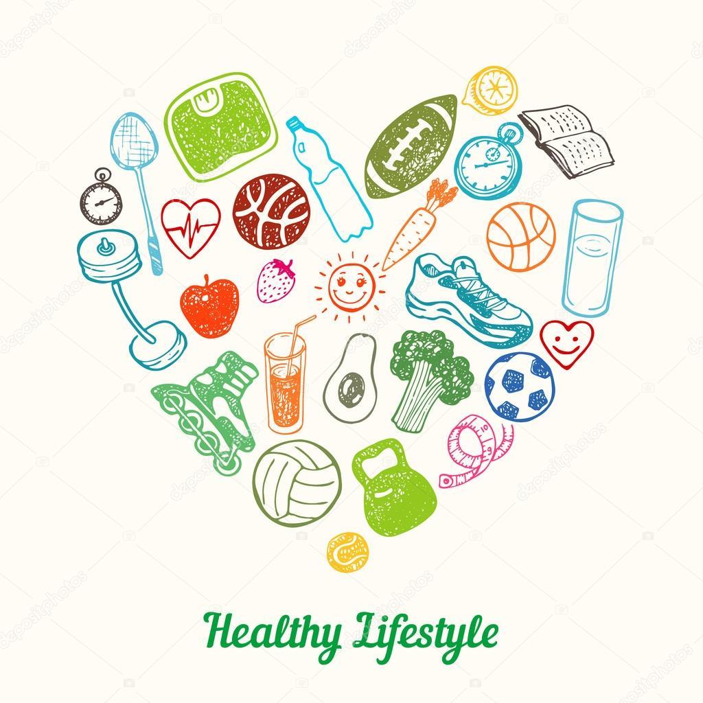 healthy lifestyle background � stock vector 169 teploleta