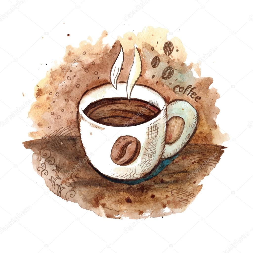 taza de caf u00e9 acuarela dibujada a mano archivo im u00e1genes coffee cup vector free download coffee cup vector art