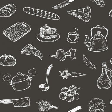 Hand drawn cooking texture.