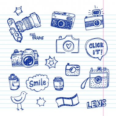 set of photography elements