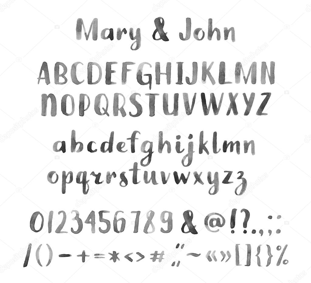 alphabet letters and numbers set