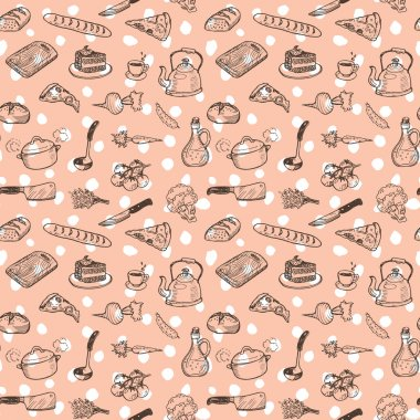 cooking doodle set texture