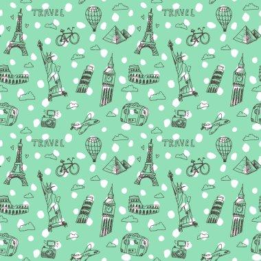 world famous landmarks pattern