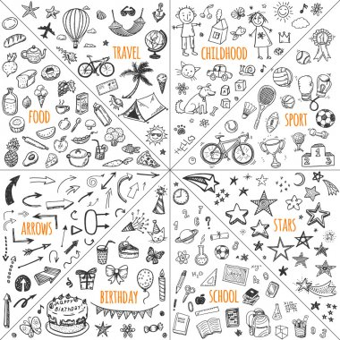 doodle travel, childhood, sport