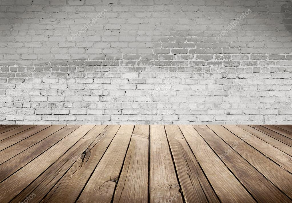 Wood table with White brick wall background   Stock Photo  111222914. Wood table with White brick wall background   Stock Photo