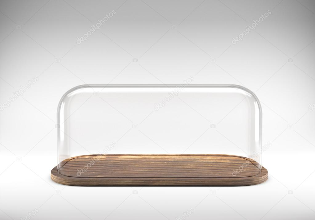 Vassoi In Legno Con Vetro : Cupola di vetro con vassoio in legno u2014 foto stock © bombybamby