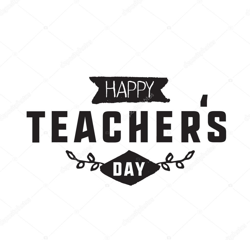 happy teachers day vector typography stock vector 169 pa3 107724270