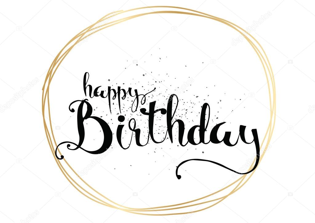 How to write happy birthday in calligraphy art of typography and
