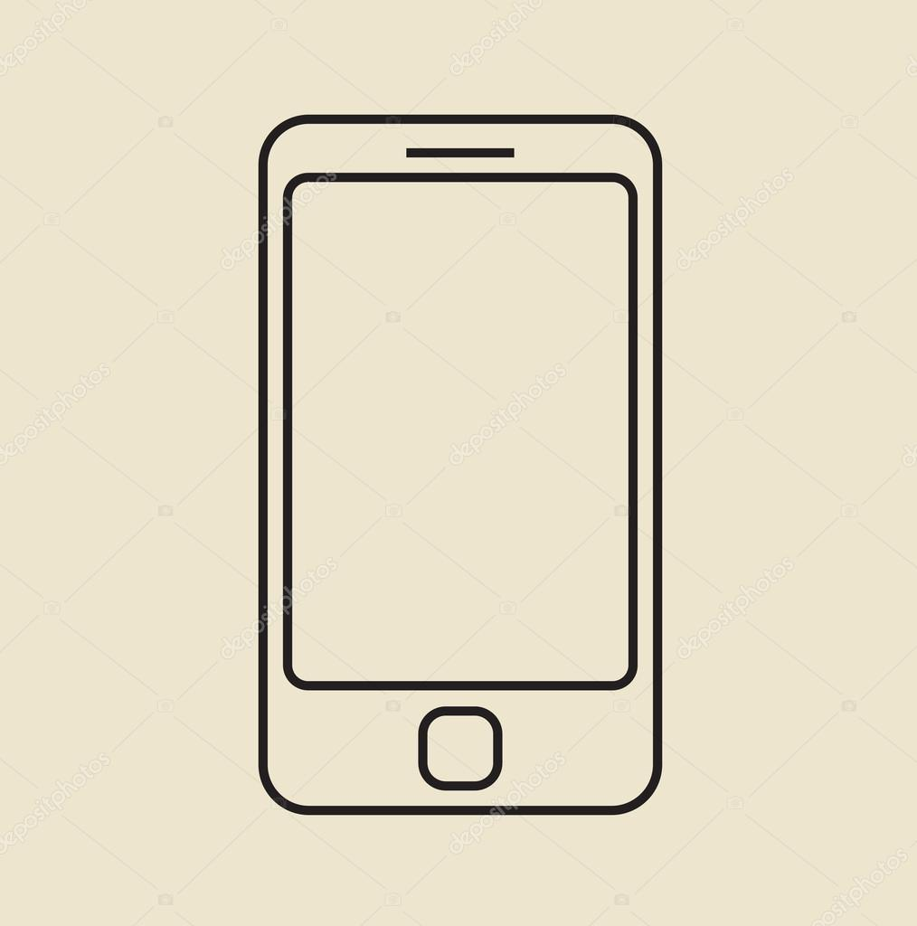 Cell Phone Icon >> Cell Phone Icon Thin Line Stock Vector C Pa3 76594865
