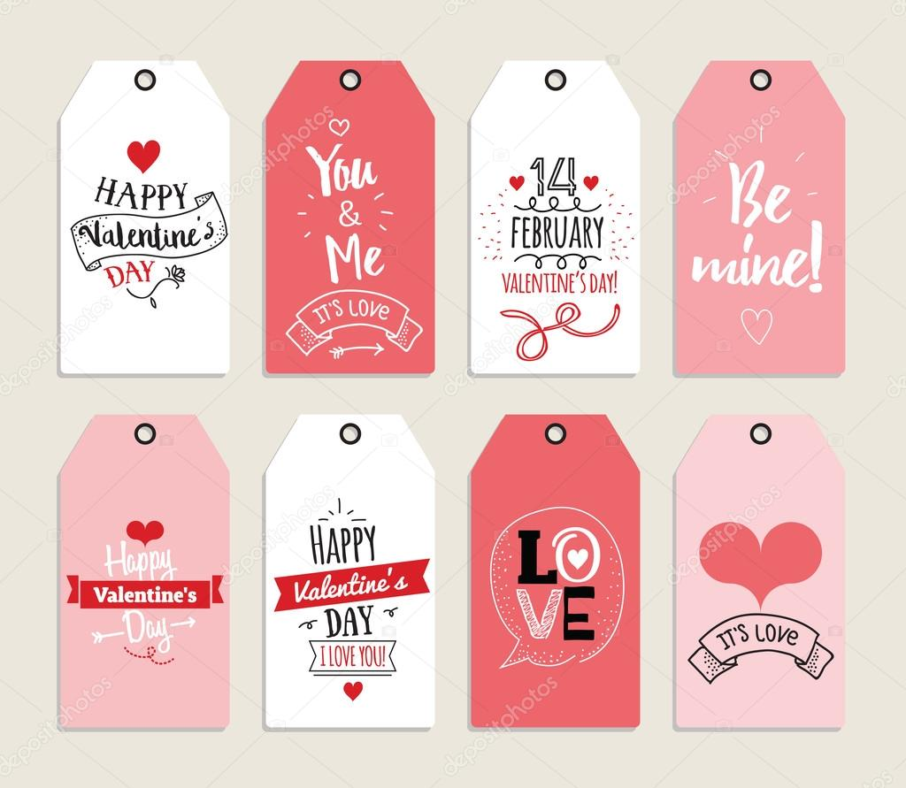 Valentines day gift cards labels and stickers Template for – Valentine Day Label