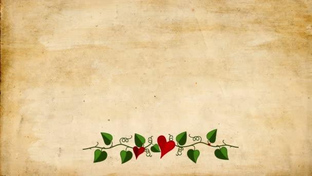 Láska rám s symbol srdce