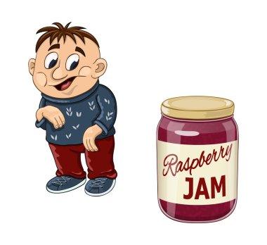 Fat boy and the jam jar