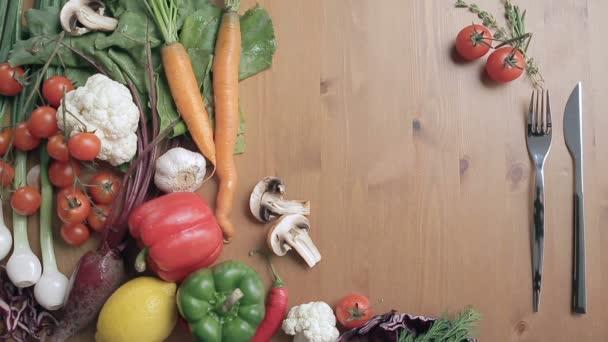 zelenina na stůl, Zátiší zeleniny, barevná zelenina