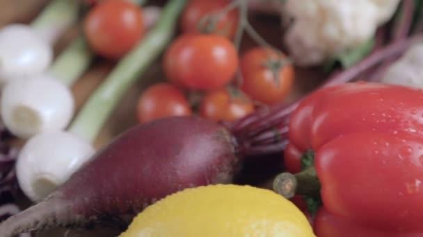 Fresh vegetables on the table. Vegetable still life