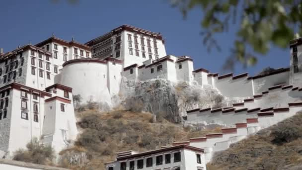 Potala place in Lhasa. Monastery in Tibet. View at the Potala.