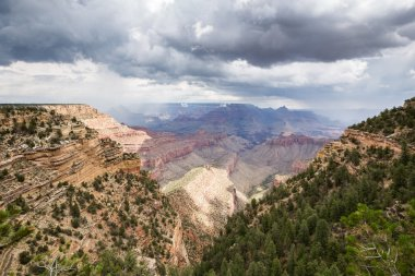 Grand Canyon National Park during a summer rainy day, Arizona, USA
