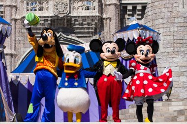 Mickey and Friends, Characters in Magic Kingdom, Walt Disney World, Florida