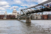 St Pauls Cathedral and Millennium Bridge on