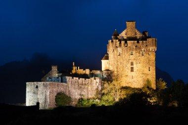 Eilean Donan Castle at dusk, Scotland, Uk