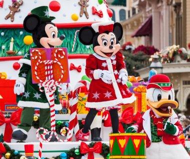 Disney Christmas Parade in Disneyland Paris.