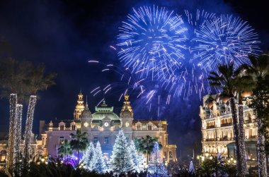 Monte Carlo Casino during New Year Celebrations