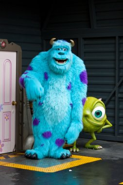 James Sullivan and Mike Wazowski at Disneyland Paris