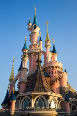 Disneyland Paris Castle in a sunny day