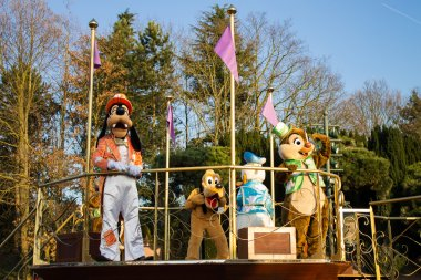 Mickey Mouse and Friends in Disneyland Parade