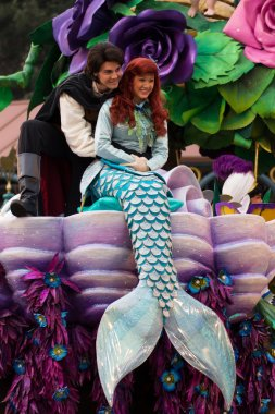 The little mermaid in parade