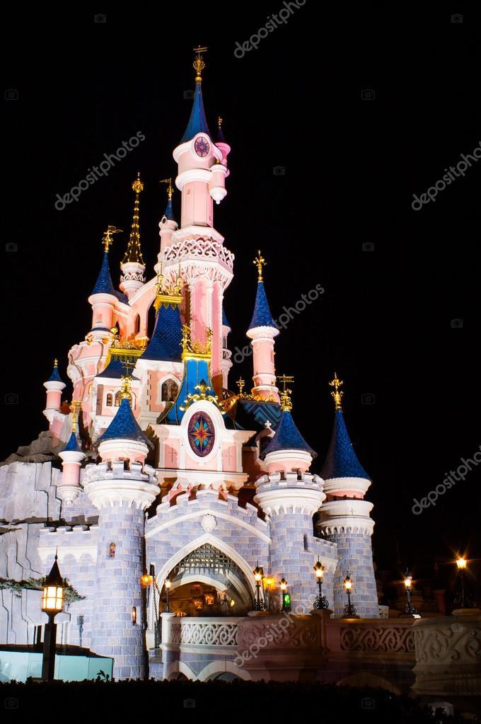 Disneyland Paris Castle at night