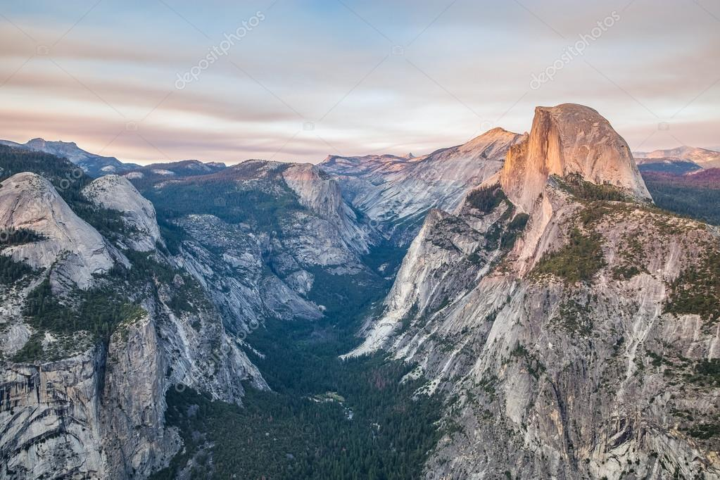 Sunset at Glacier Point in Yosemite National Park, California, USA.
