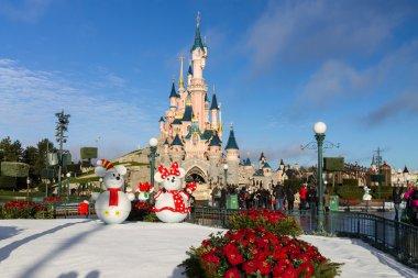 Disneyland Paris Castle during Christmas Celebrations