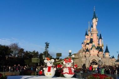 Disneyland Paris Castle during Christmas Celebrations