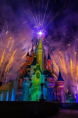 Disneyland Paris Castle during the Dreams Show, Paris, France