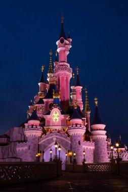 Disneyland Paris Castle at night, Paris, France