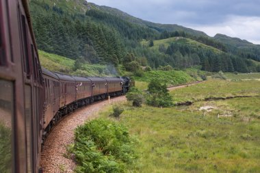 Detail of the Jacobite train, Scotland, United Kingdom