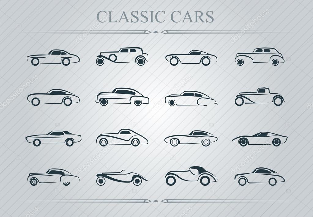 Classic Cars Logo Stock Vector C Vukobel