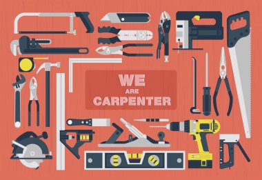 We are carpenter,Home tools flat element