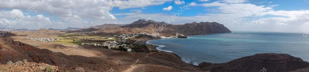 Panorama view of village Las Playitas at Fuerteventura, Canary Islands