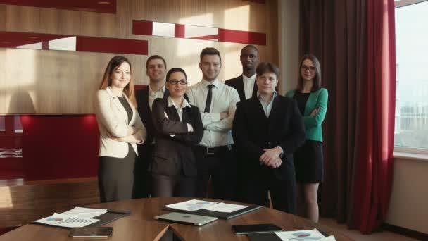 Group of success businessman look at camera
