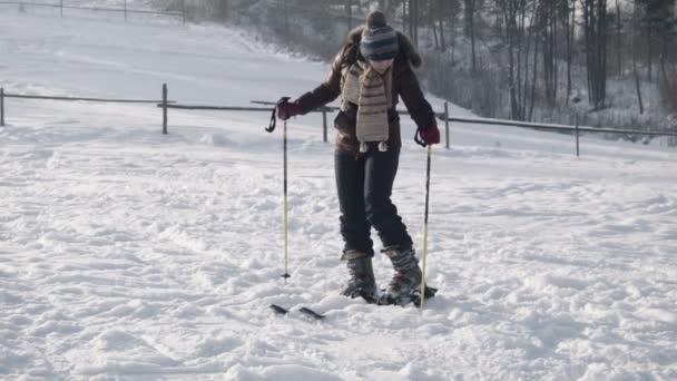 samice klade na lyže